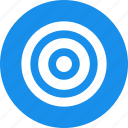 aim, blue, bullseye, efficiency, goal, marketing icon