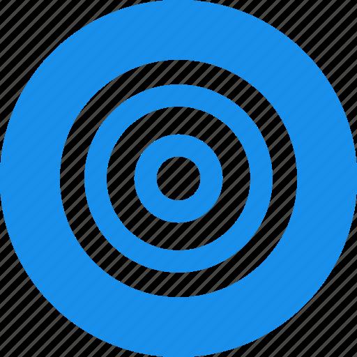 aim, blue, bullseye, efficiency, goal, marketing icon