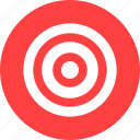 aim, bullseye, efficiency, goal, marketing, red icon