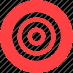 aim, bullseye, efficiency, goal, marketing, red icon