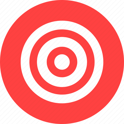 goal marketing aim efficiency bullseye red icon download goal marketing aim efficiency bullseye red icon download