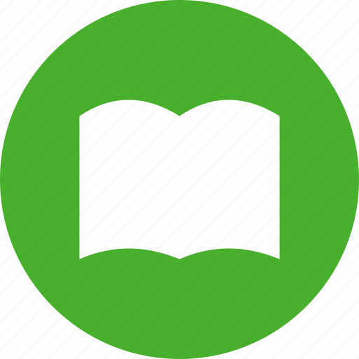 book, bookmark, circle, green, learn, library, read icon