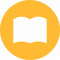 book, bookmark, circle, learn, library, read, yellow icon