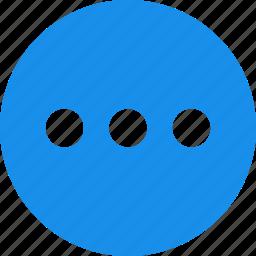 blue, circle, control, menu, options icon