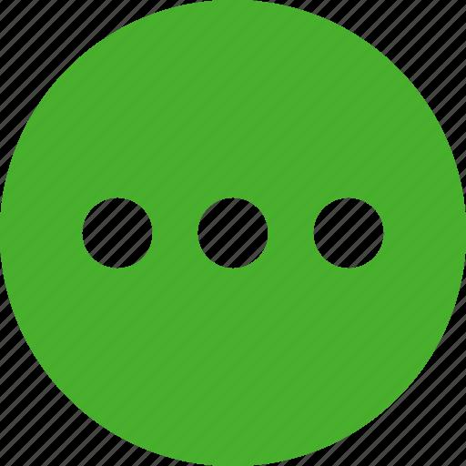 circle, control, green, menu, options icon