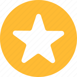 achievement, bookmark, circle, favorite, ranking, yellow icon