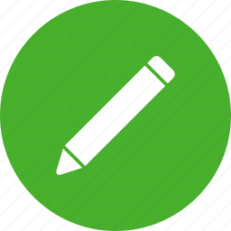 circle, compose, draw, edit, green, pencil icon