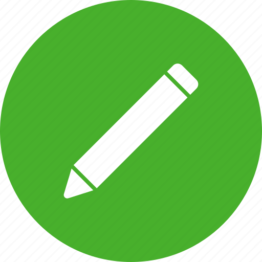 circle, compose, draw, edit, green, pencil icon