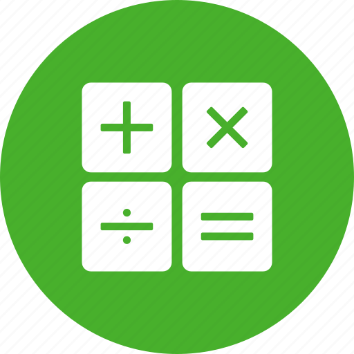 accountant, accounting, calculate, calculation, green icon