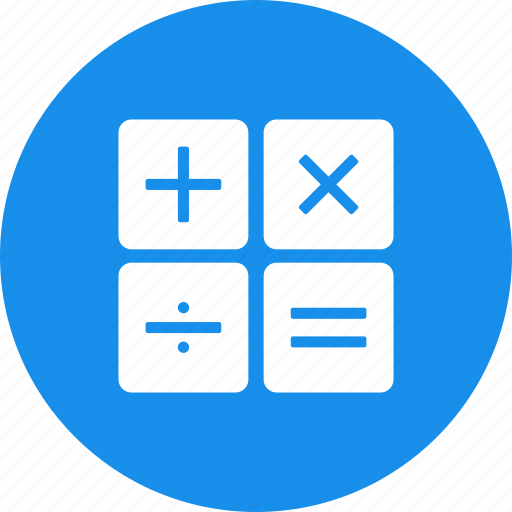 accountant, accounting, blue, calculate, calculation icon
