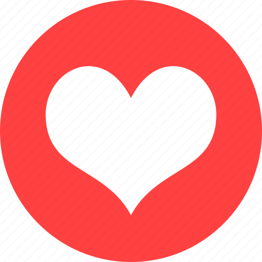 circle, dating, favorite, heart, like, love, red icon