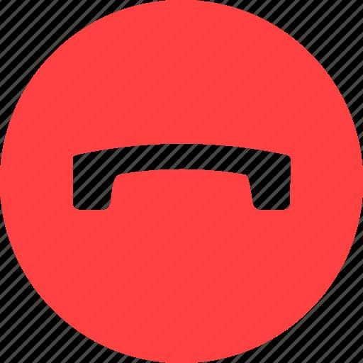 call, circle, finish, phone, red, talk icon