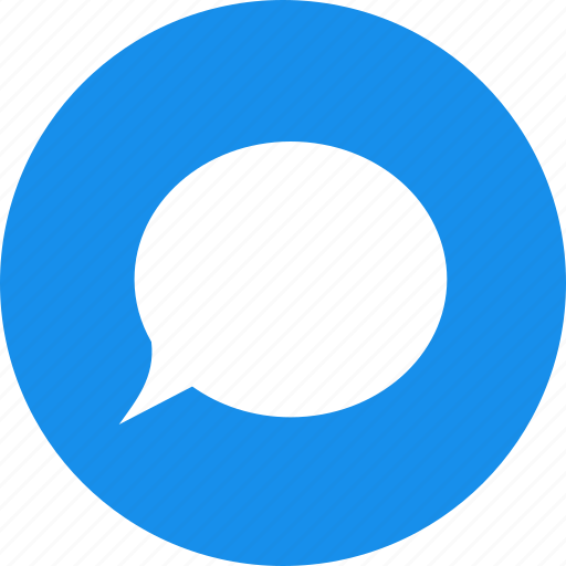 blue, chat, chatting, circle, comment, messages icon