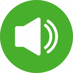 circle, green, music, sound, sounds, speaker icon