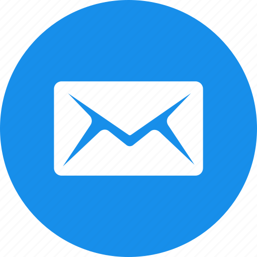 blue, circle, email, letter, mail, message, messages icon