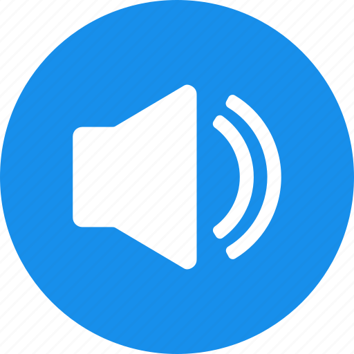 blue, circle, music, sound, sounds, speaker icon