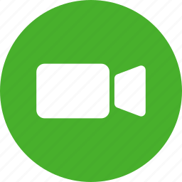 circle, green, movie, ui, video, video camera icon