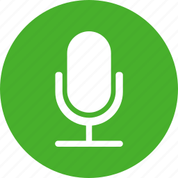circle, green, mic, microphone, recording, speaker icons icon