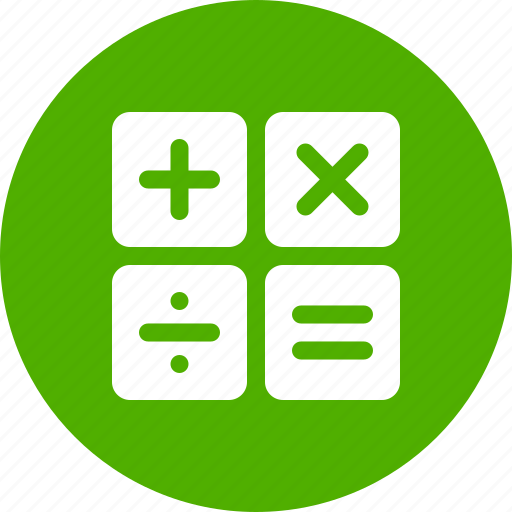 accountant, arithmetic, calculate, calculation, calculator, math, mathematics icon