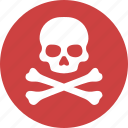 crossbone, danger, death, pirate, poison, skeleton, skull icon