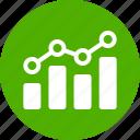 analytics, chart, circle, earnings, finance, green, stock market
