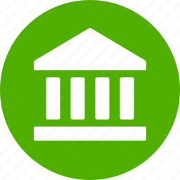 bank, circle, finance, financial institution, street, treasury, wall icon