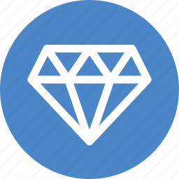best, blue, circle, diamond, gem, jewelry, premium icon