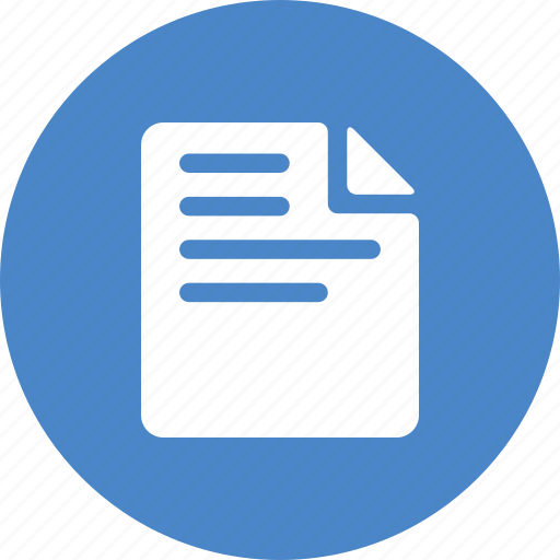 blue, circle, document, file, form, note, report icon