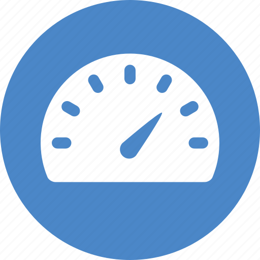 Blue, circle, gauge, meter, speed, speedometer, dashboard icon - Download on Iconfinder