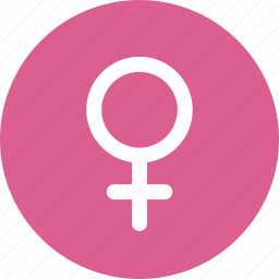 circle, female, gender, pink, sex, sign, woman icon