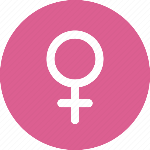 Circle, female, gender, pink, sex, sign, woman icon - Download on Iconfinder