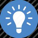 blue, circle, creativity, entrepreneur, idea, light bulb, lightbulb