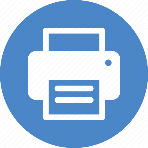 Blue, circle, copier, office, print, printer, printing ...