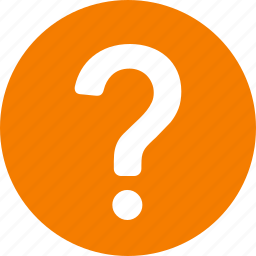 circle, help, information, orange, query, question, support icon
