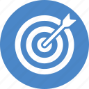 blue, bullseye, business success, circle, goal, marketing, target icon