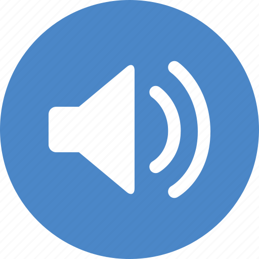 Blue, circle, music, sound, sounds, speaker, volume icon - Download on Iconfinder