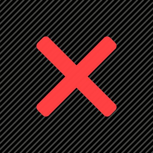 cancel, close, delete, exit, red, stop icon