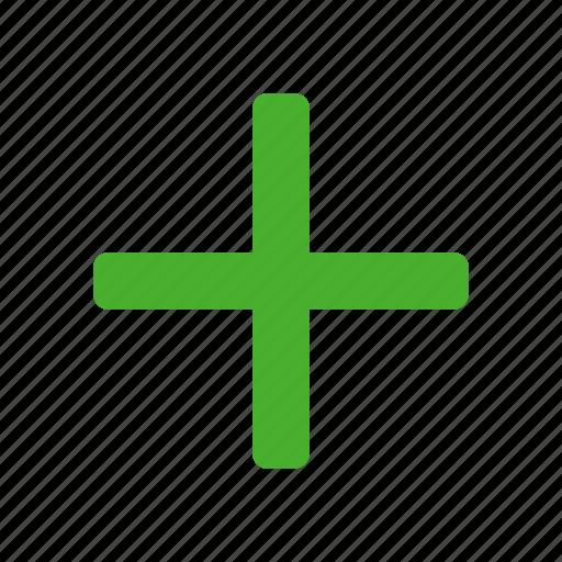 add, append, create, green, new, plus icon