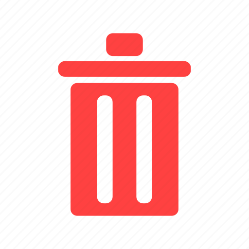 delete, garbage, recycle, red, rubbish icon