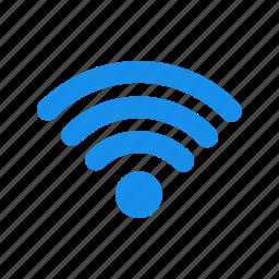 blue, internet, network, signal, wifi icon