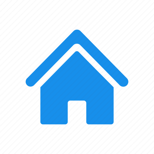 blue, building, estate, home, house, real icon