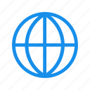 blue, global, globe, international, language icon