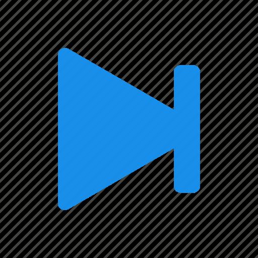 arrow, blue, forward, next, right icon