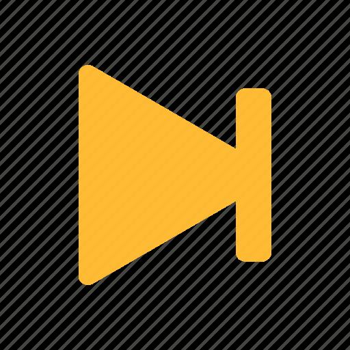 arrow, forward, next, right, yellow icon