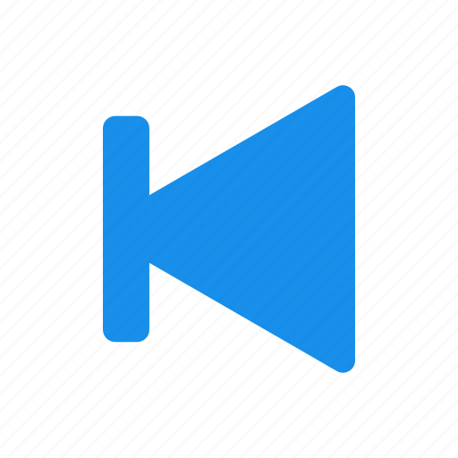 arrow, back, blue, left, previous icon