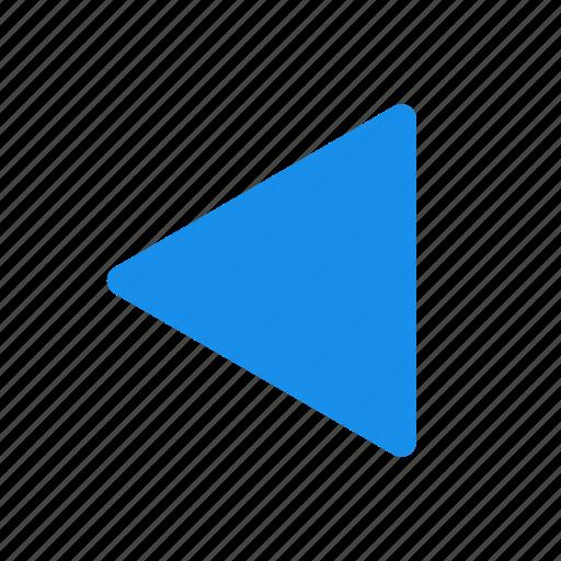 arrow, back, blue, left arrow, previous icon