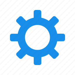 blue, cog, customize, gear, preferences icon