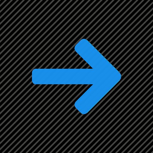 arrow, blue, east, forward, next, right i icon