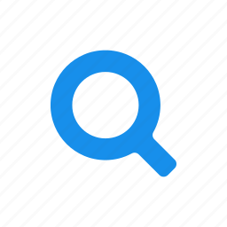 blue, find, glass, magnifying, search icon
