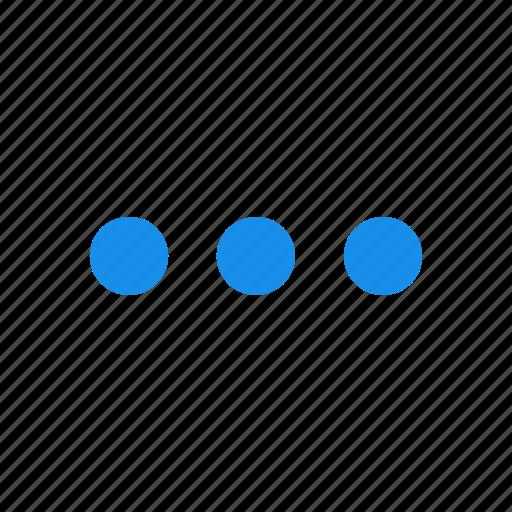 blue, control, menu, options icon